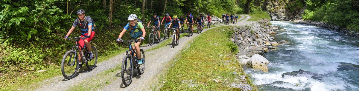 Fahrradtour durchs Gebirge